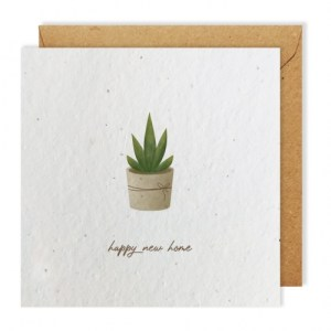 New Home greeting card bloom seed paper pack of 10