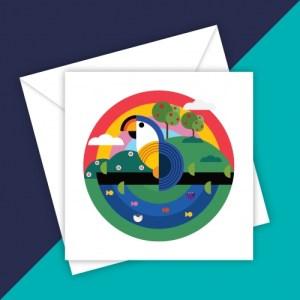 MICKEY MACAW BLANK GREETING CARD - 04B16A9C 0502 411B 848A 96CF153F7630 500x500