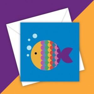 RAINBOW FISH BLANK GREETING CARD - F6258E3D 3AD9 4C4F 86E5 1208B588F08B 500x500