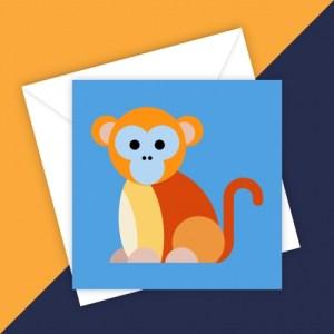 GOLDEN MONKEY BLANK GREETING CARD - 69E97570 26DE 48BA 97E8 C8CE48979345 500x500