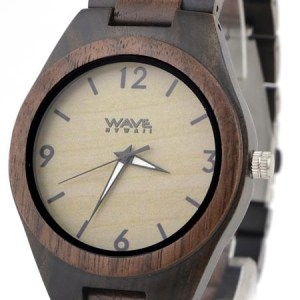 WAVE HAWAII wooden Watch Men ebony + walnut