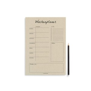 """A4 weekly planner """"blank"""" – 54 sheets"""