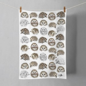 Hedgehogs Cotton Tea Towel | Printed in the UK | Designed by Gemma Keith