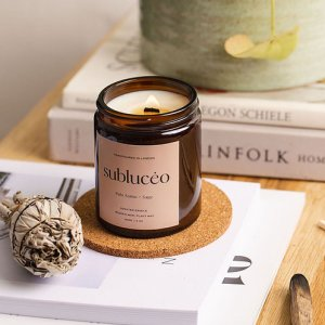Palo Santo + Sage Wooden Wick Soy Candle – Small 120ml