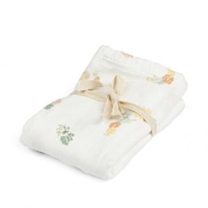 Baby muslin cloth I Flowers