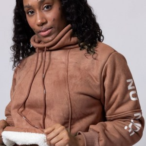 Brown Crowl Neck Sweater