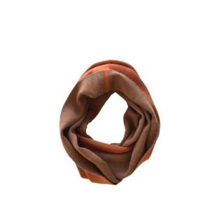 Round scarf – Orange/Natural