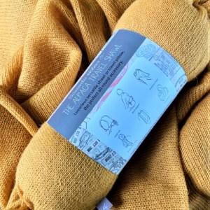 Alpaca Multiway Travel Shawl/Pillow – Turmeric