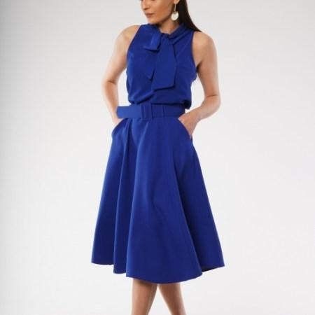 Jeannine Blouse in Cobalt Blue