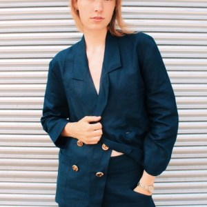 Ethically Made Navy Linen Suit
