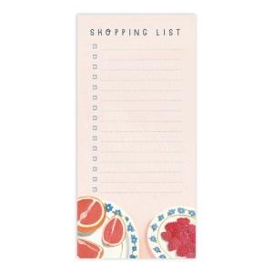 Fruit Shopping List Notepad