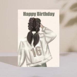 Milestone 16th Birthday Card Cream Jacket