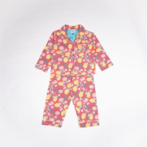 Lemon Grove Girls Button-Up Pyjamas in Organic Cotton