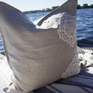 Future Sky Washed linen cushion cover- 50×50 Premium Selection Handmade
