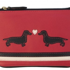 Red Dog Large Picture Purse With Black Trim – 732