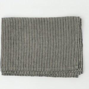 Black Pin Stripe Linen Kitchen Towel