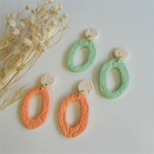 hoop earrings, clay earrings