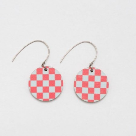 Colourful Wooden Earrings made by Unique Ella Sustainable Jewellery Scandinavian Design UK