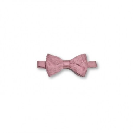 Children's antique rose knitted bow tie