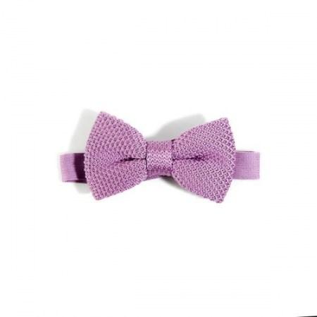 Children's purple knitted bow tie