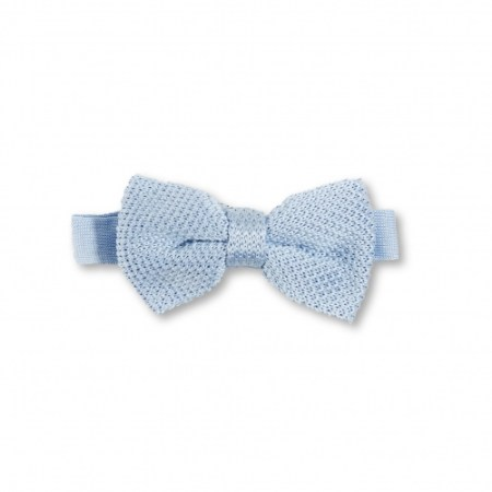 Children's bluebell blue knitted bow tie