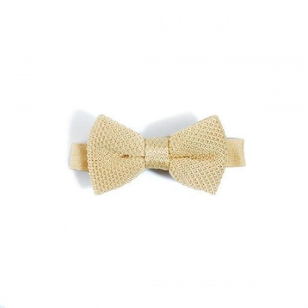 Children's mellow yellow knitted bow tie