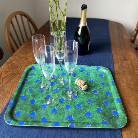 Tray Swedish Birch Handcrafted in UK Emerald Green