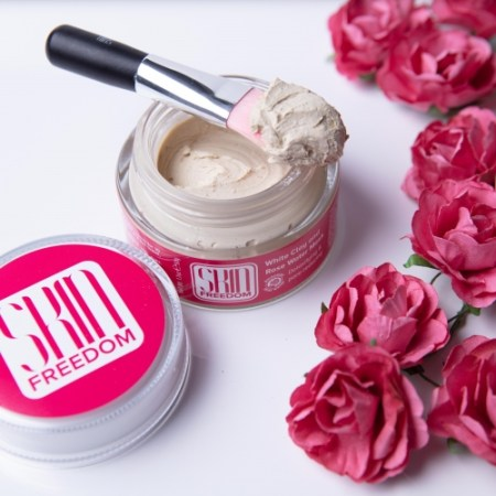 rose water clay mask