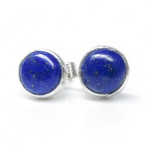 Lapis Lazuli Stud Earrings, Blue Gemstone Earrings, Sterling Silver Studs, Lapis Jewellery, Gemstone Jewelry, Gift For Her, Anniversary Gift