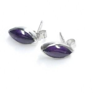10x5mm Amethyst Earrings