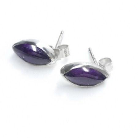 E10x5mm - Amethyst Earrings