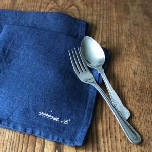 Linen Napkin Handmade Navy