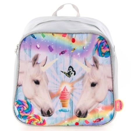 Backpack Unicorns Grey