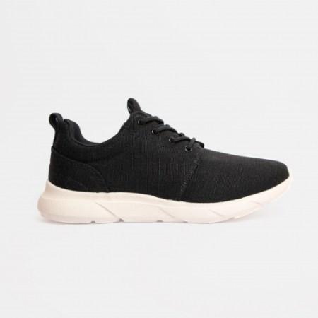 Black and white hemp shoes