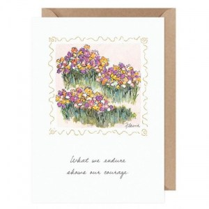 Our Courage ....Flavia Card by Flavia Weedn 100% Cotton  Tree Free Made in Switzerland  0003-2187