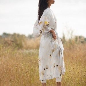From My Mother's Garden Peace long lightweight robe is a beautiful gown which would be a perfect gift for a bride to be and the wedding day