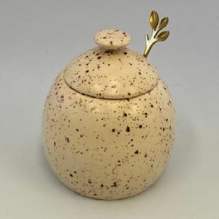 honey speckle sugar bowl