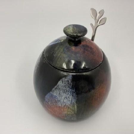 Abstract Sugar Bowl by Peter Bowen Art