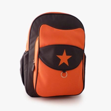 Milkdot orange kid backpack front