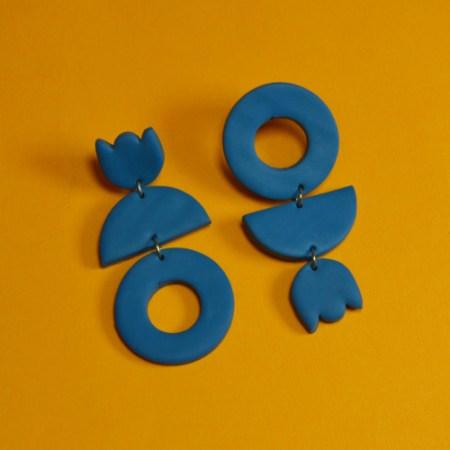 Handmade Blue Earrings UK