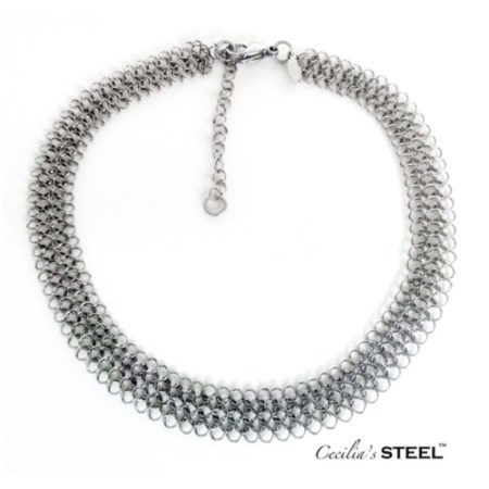 Stainless steel choker necklace by Cecilia's Steel