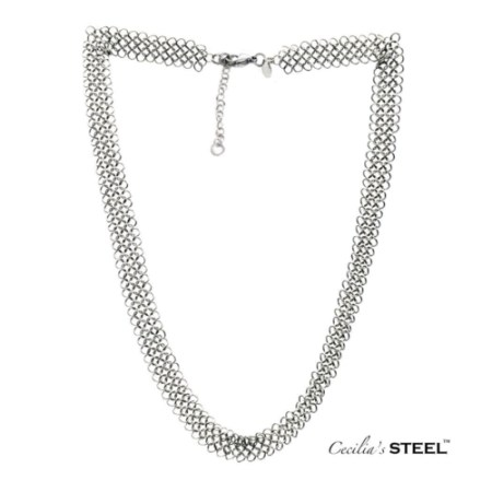 Stainless steel chainmail necklace by Cecilia's Steel