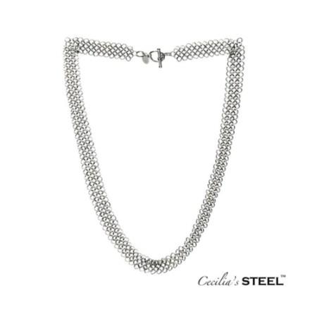 Cecilia's Steel toggle clasp necklace