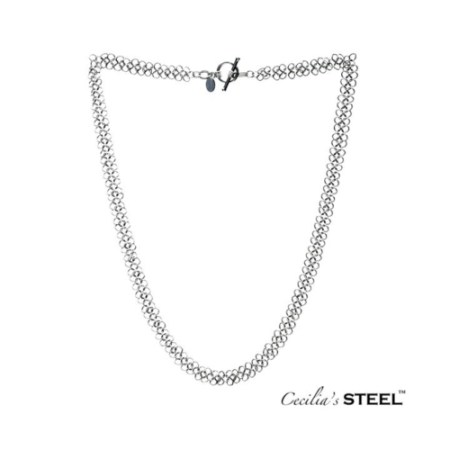 Toggle clasp stainless steel chainmail necklace by Cecilia's Steel