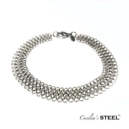 Stainless steel chainmail bracelet by Cecilia's Steel