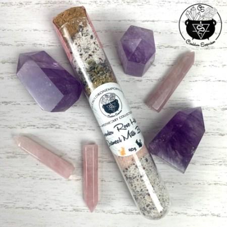 Lavender Rose Hibiscus Oatmeal Milk Bath Salt