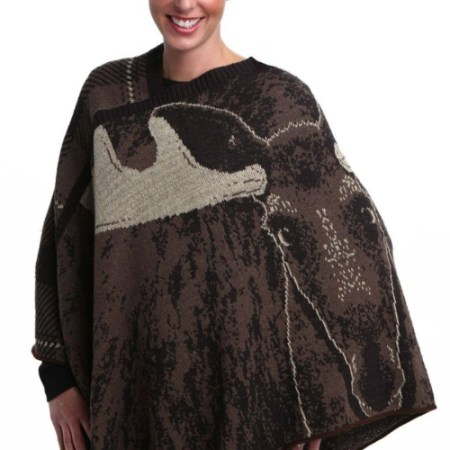 Women's Cotton Sweater Knit Pullover Poncho - Real Moose