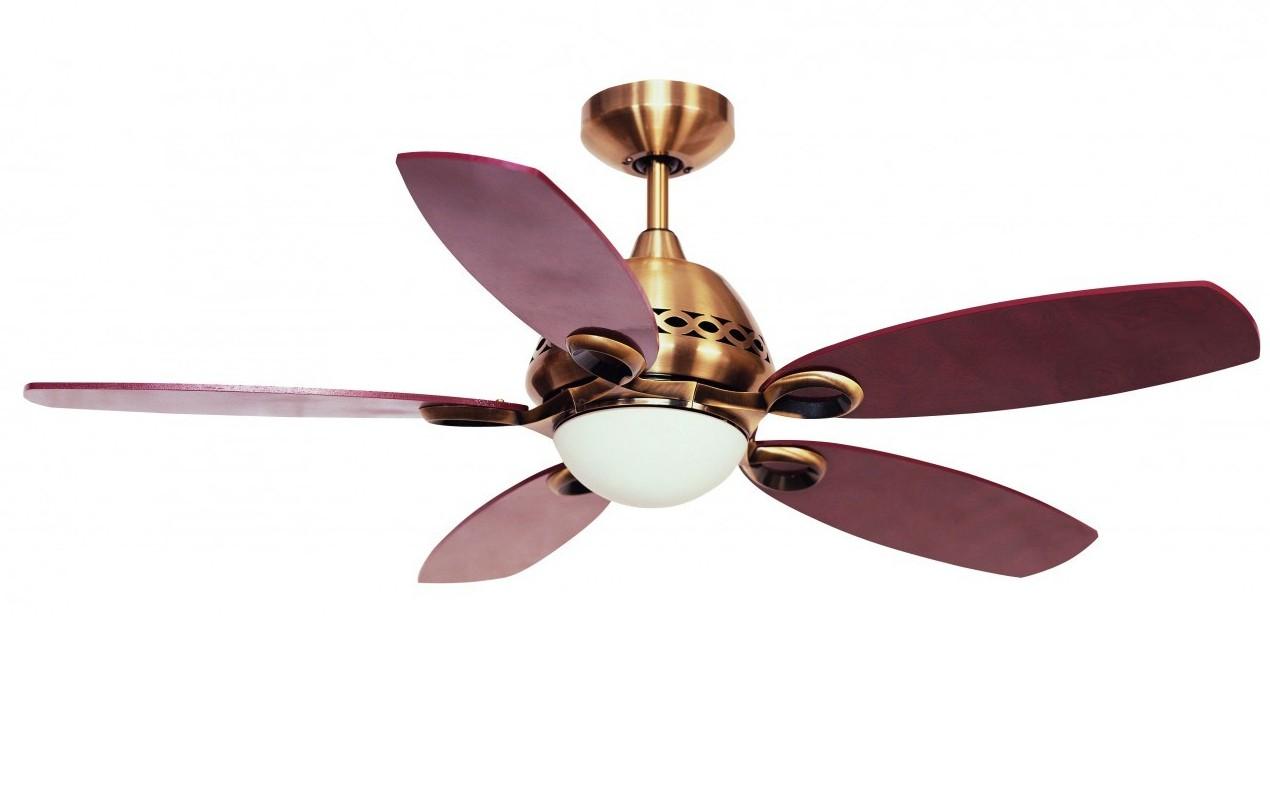 Ceiling Fan Phoenix Antique Brass With Light 107 Cm  42
