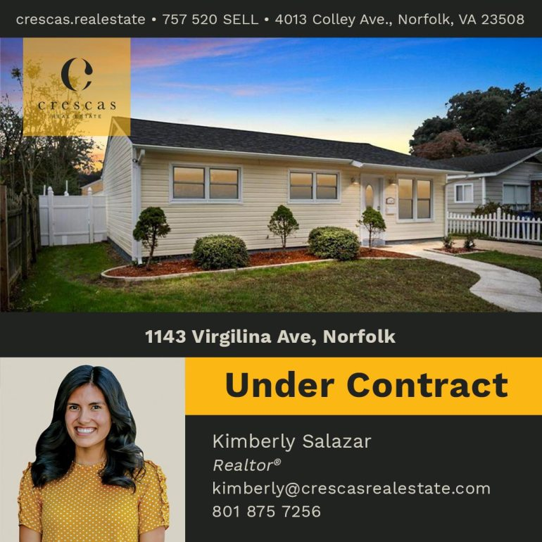1143 Virgilina Ave Norfolk - Under Contract