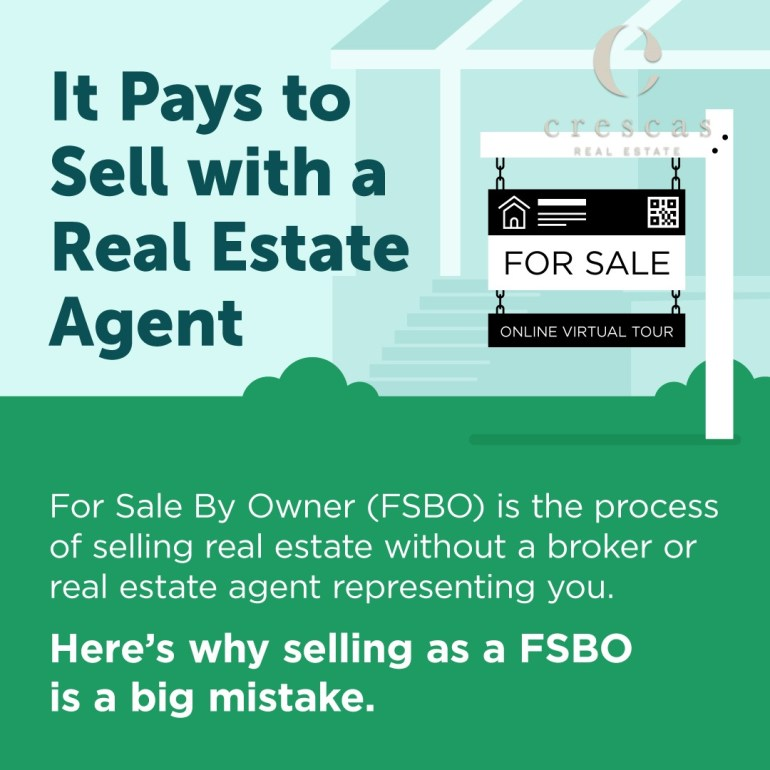 It pays to sell with a real estate agent
